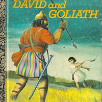 VINTAGE KIDS BOOK David and Goliath a Little Golden Book