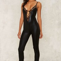 Tooth and Claw Lace-Up Catsuit