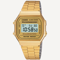 Casio Vintage Collection A168 Watch Gold One Size For Men 24815862101