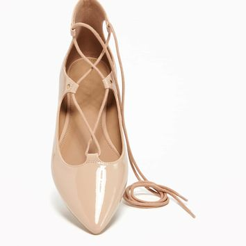 Pointed-Toe Lace-Up Flats for Women | Old Navy