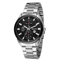 Mens Sports Steel Strap Wrist Watch with Display Date Best Gift