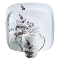 Corelle Square Twilight Grove 16-Pc Dinnerware Set