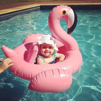 Baby Swimming Accessories Piscine Pool Inflatable Ring Swan Style Seat Float Swimtrainer Laps