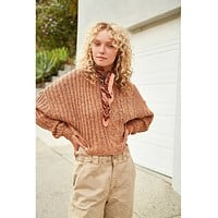 On Your Side Pullover Brown Sugar
