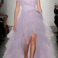High Low Gown With Hand Draped Tulle | Moda Operandi