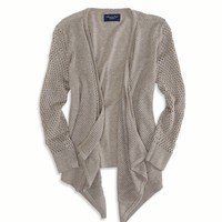AEO Factory Mesh Knit Open Cardigan | American Eagle Outfitters