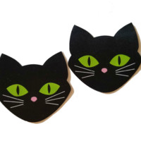 Novelty Black Cat Pasties