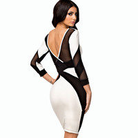 Midi Pencil Long Sleeved Party wear