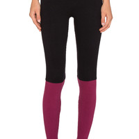 Spiritual Gangster Ballet Legging in Black & Crimson