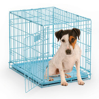 iCrate Fashion Edition Pet Crate - Blue or Pink
