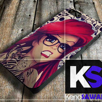 Ariel little mermaid Tattoo - iPhone 4/4S, 5/5S, 5C and Samsung Galaxy S3 i9300, S4 i9500 case.