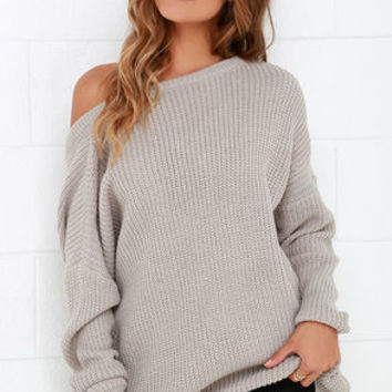 Island Ferry Taupe Sweater