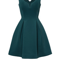 Slate & Willow Hunter Green Petal Dress