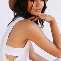Chaser Silk Drop-Arm Tank Top-