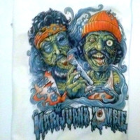 Cheech and Chong funny marijuana Zombie pop culture t-shirt Cheech and chong zombies Pot humor weed