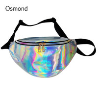 Osmond New Fanny Pack Women Shoulder Bag Hologram PU Laser Transluce Reflective Fashion Chest Pack Waist Bag Waist Pack Women