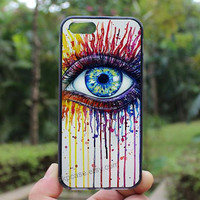 Art,Eye,Oil Painting,iphone 5s case,iphone 4 case,iPhone4s case, iphone 5 case,iphone 5c case,Gift,Personalized,water proof