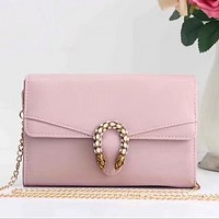 Gucci Pink Shopping Bag Leather Chain Crossbody Shoulder Bag Satchel