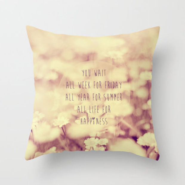 """Old Fart Attitude Pillow Decorative with Loop for Hanging 8.5/"""" Bug Me Goddess"""