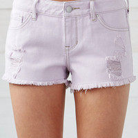 Bullhead Denim Co. Prism Ripped Low Rise Denim Shorts at PacSun.com