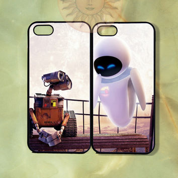 Walle and Eve Couple Case UP-iPhone 5, iphone 4s, iphone 4 case, ipod 5, Samsung GS3-Silicone Rubber or Hard Plastic Case, Phone cover
