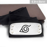 Hot Anime Naruto Konohanourakakurenomura Black Cosplay Ninja Headband Accessories