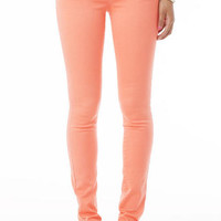 Olivia Low-Rise Jegging in Coral Kiss