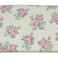 Bath Mat, Shabby Chic Rose