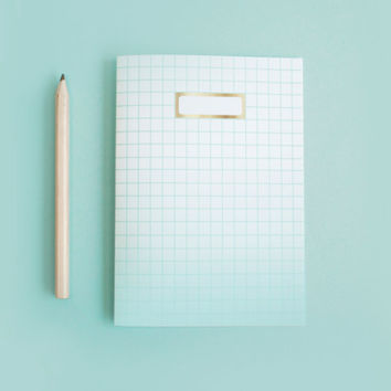 Ombre Grid Notebooks x 3