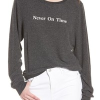 Wildfox Never on Time Baggy Beach Jumper Pullover | Nordstrom