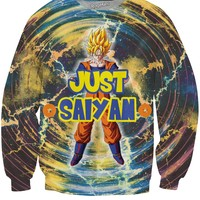 Just Saiyan Crewneck Sweatshirt