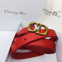 Dior Cd Leather Belt