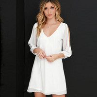 Cosy Loose V-neck Chiffon Dress A3