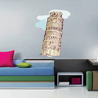 kcik193 Full Color Wall decal Leaning Tower of Pisa Italy children's bedroom