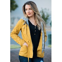 Easy To Love Jacket- Mustard