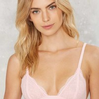 Donna Lace Bralette - Pink