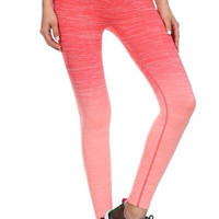 Coral Ombré Workout Pants