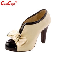 Size 34-43 hot sale women  high heel shoes quality lady bowknot  sexy fashion platform heeled footwear heels brand shoes H023