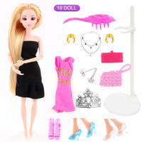 UCanaan Girl's Favorite Princess Sweet Doll 17 Accessories Best Friend Play with Girls 3D Eyes Doll Toys Best Birthday Gift DIY
