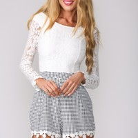 HelloMolly   Gingham and Lace Playsuit - New In