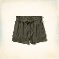 Hollister High Rise Drapey Shorts
