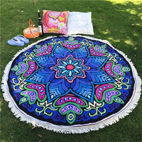 Round Mandala Beach Throw Towel Shawl Scarf Tapestry Indian Wall Hanging Yoga Mat