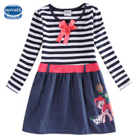 baby girl clothes girls dresses winter 2016 kids dresses for girls long sleeve stripe NOVA princess dress new fashion H6473