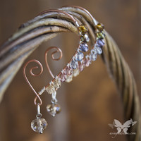 Copper Earrings w/ Crystals - Victoriana from A Single Dream