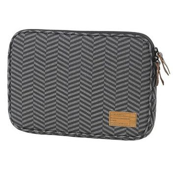 HEX Sleeve Case with Rear Pocket for Microsoft Surface 3 Black Grey Chevron