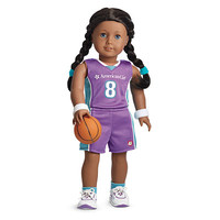 American Girl® Clothing: Basketball Outfit for Dolls + Charm