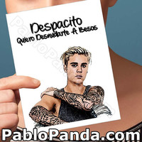 Anniversary Card | Justin Bieber | Despacito Belieber Funny Wife Card One Year Anniversary Boyfriend Gift For Her One Year Wife Card Gift