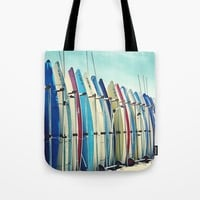 California surfboards Tote Bag by sylviacookphotography