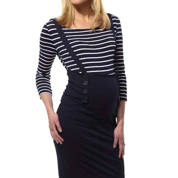L'Avenue des Bebes Astuce Maternity Skirt With Suspenders