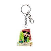 Disney Parks Minnie and Mickey Contemporary Keychain New with Tags
